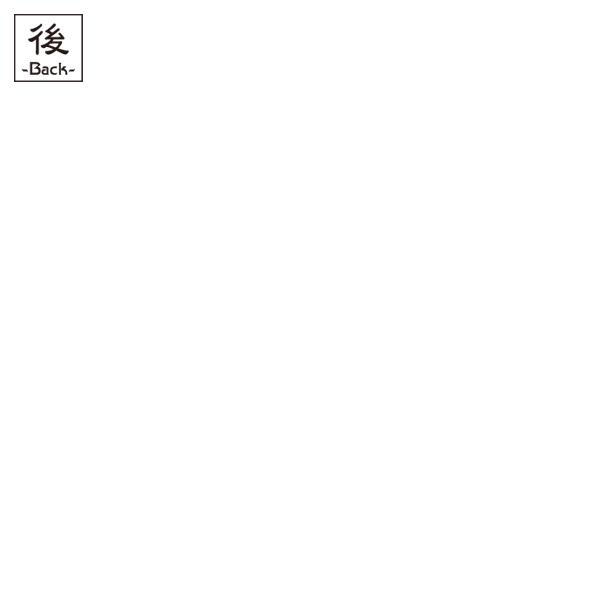 和柄,和柄服,むかしむかし,大きいサイズ,Tシャツ,キッズ,長袖,前田加賀梅鉢家紋,バックプリント