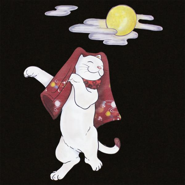 和柄,和柄服,むかしむかし,大きいサイズ,Tシャツ,キッズ,長袖,おどり猫,バックプリント
