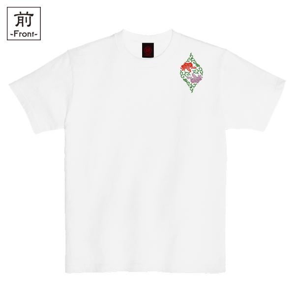 和柄,和柄服,むかしむかし,大きいサイズ,Tシャツ,キッズ,半袖,桐唐草立涌,バックプリント