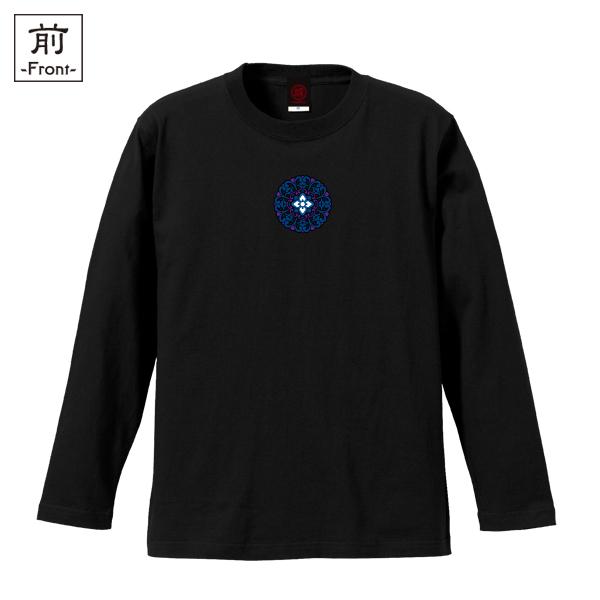 和柄,和柄服,むかしむかし,大きいサイズ,Tシャツ,キッズ,長袖,唐花丸紋様,バックプリント