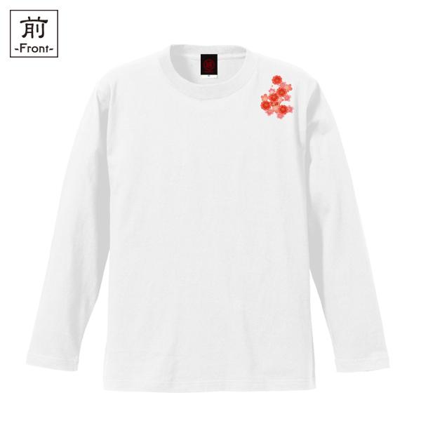 和柄,和柄服,むかしむかし,大きいサイズ,Tシャツ,キッズ,長袖,吉祥桜鳳凰,バックプリント