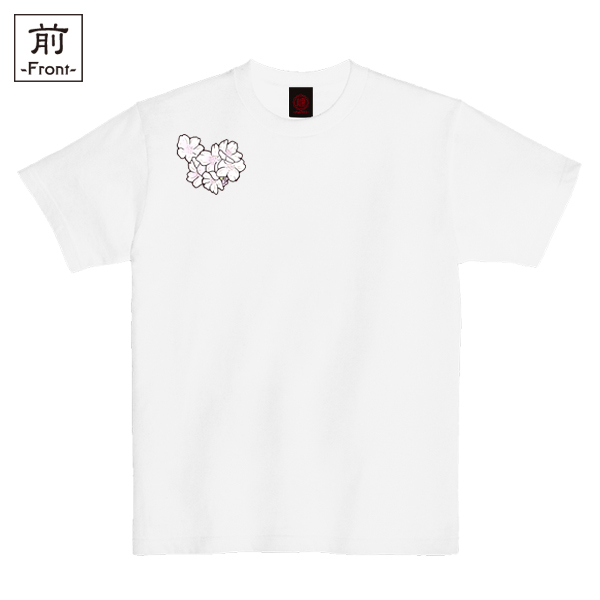 和柄,和柄服,むかしむかし,大きいサイズ,Tシャツ,レディース,半袖,鳥獣戯画_桜酒宴