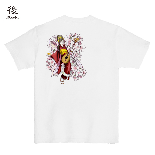 和柄,和柄服,むかしむかし,大きいサイズ,Tシャツ,メンズ,半袖,祝音弁財天