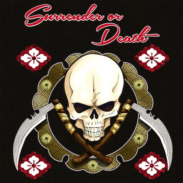 和柄,和柄服,むかしむかし,大きいサイズ,Tシャツ,レディース,長袖,髑髏海賊旗