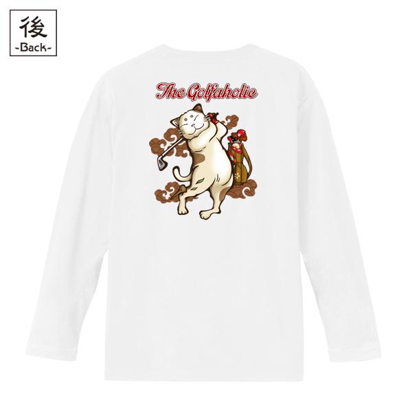 和柄,和柄服,むかしむかし,大きいサイズ,Tシャツ,キッズ,長袖,ゴルフ猫