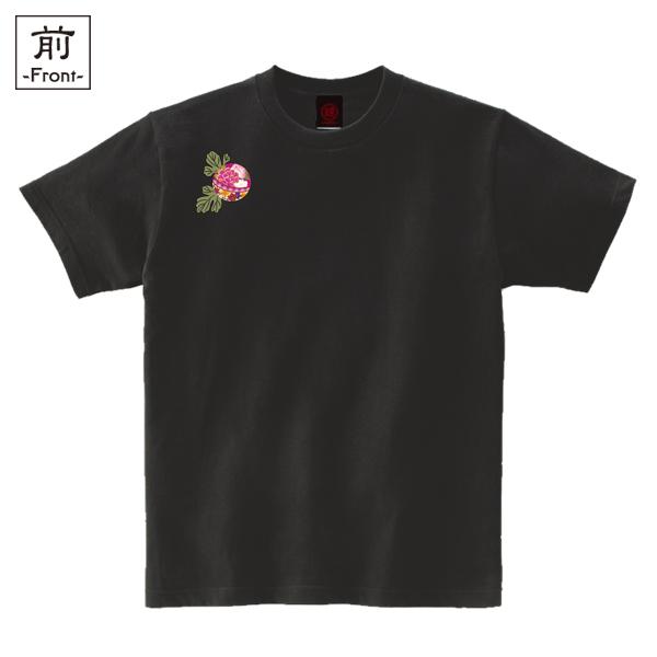 和柄,和柄服,むかしむかし,大きいサイズ,Tシャツ,レディース,半袖,華鞠紋様