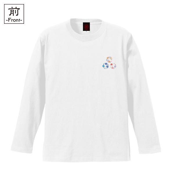 和柄,和柄服,むかしむかし,大きいサイズ,Tシャツ,キッズ,長袖,小花丸紋様