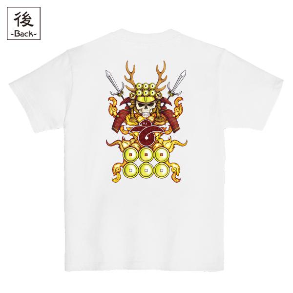 和柄,和柄服,むかしむかし,大きいサイズ,Tシャツ,キッズ,半袖,髑髏真田甲冑