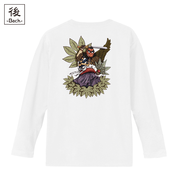 和柄,和柄服,むかしむかし,大きいサイズ,Tシャツ,キッズ,長袖,烏天狗