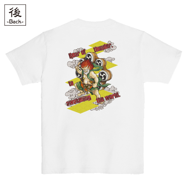 和柄,和柄服,むかしむかし,大きいサイズ,Tシャツ,レディース,半袖,激雷神