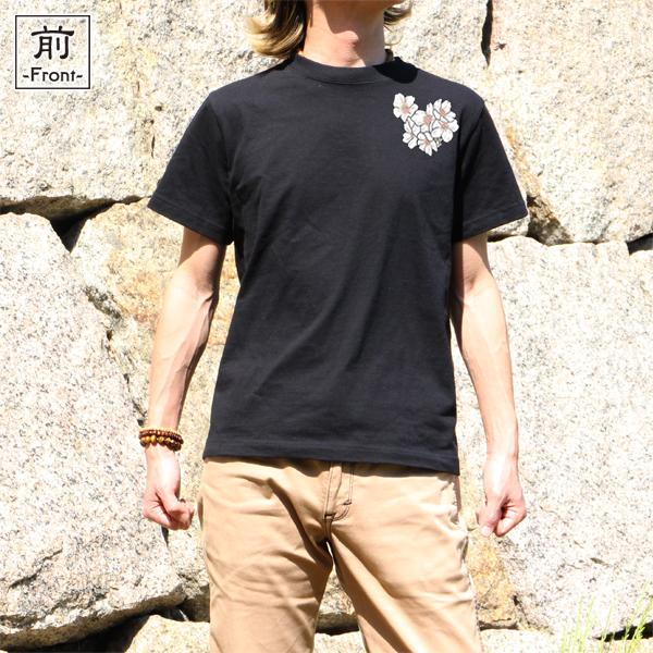 和柄,和柄服,むかしむかし,大きいサイズ,Tシャツ,レディース,半袖,桜昇り鯉