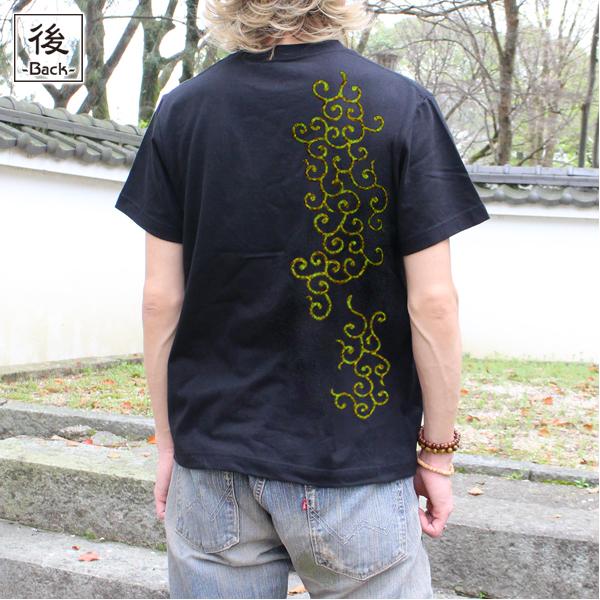 和柄,和柄服,むかしむかし,大きいサイズ,Tシャツ,レディース,半袖,唐草文様