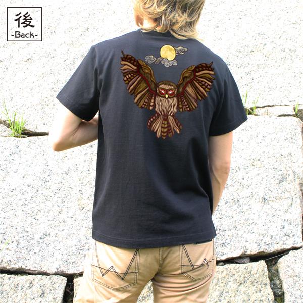 和柄,和柄服,むかしむかし,大きいサイズ,Tシャツ,キッズ,半袖,闇夜梟