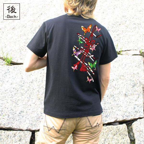 和柄,和柄服,むかしむかし,大きいサイズ,Tシャツ,キッズ,半袖,蝶花結組紐