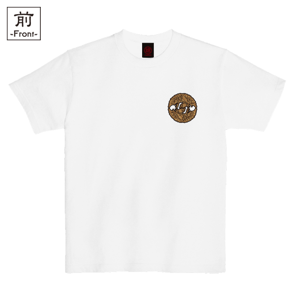 和柄,和柄服,むかしむかし,大きいサイズ,Tシャツ,メンズ,半袖,蛮絵向鶴紋様