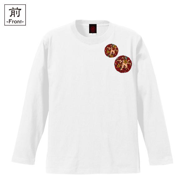 和柄,和柄服,むかしむかし,大きいサイズ,Tシャツ,キッズ,長袖,見返り美人