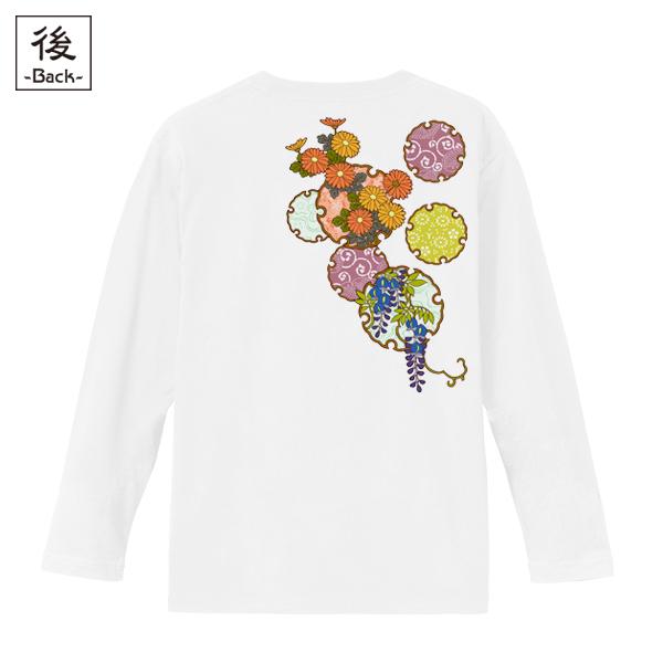 和柄,和柄服,むかしむかし,大きいサイズ,Tシャツ,メンズ,長袖,雪輪季節花紋