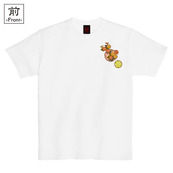 和柄,和柄服,むかしむかし,大きいサイズ,Tシャツ,メンズ,半袖,雪輪季節花紋