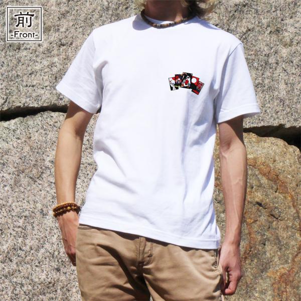 和柄,和柄服,むかしむかし,大きいサイズ,Tシャツ,レディース,半袖,花札芸者_五光