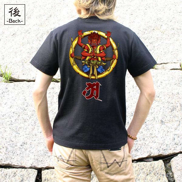 和柄,和柄服,むかしむかし,大きいサイズ,Tシャツ,キッズ,半袖,阿修羅
