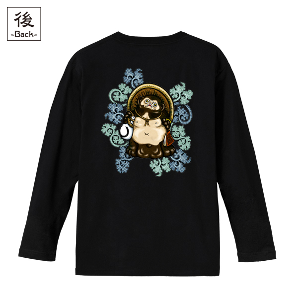 和柄,和柄服,むかしむかし,大きいサイズ,Tシャツ,メンズ,長袖,吉祥葵狸