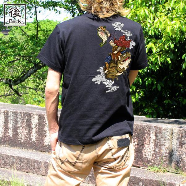 和柄,和柄服,むかしむかし,大きいサイズ,Tシャツ,メンズ,半袖,自来也忍法帖