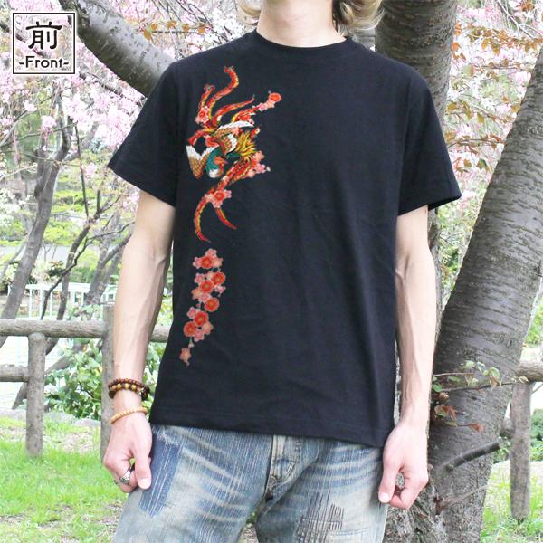和柄,和柄服,むかしむかし,大きいサイズ,Tシャツ,キッズ,半袖,吉祥桜鳳凰