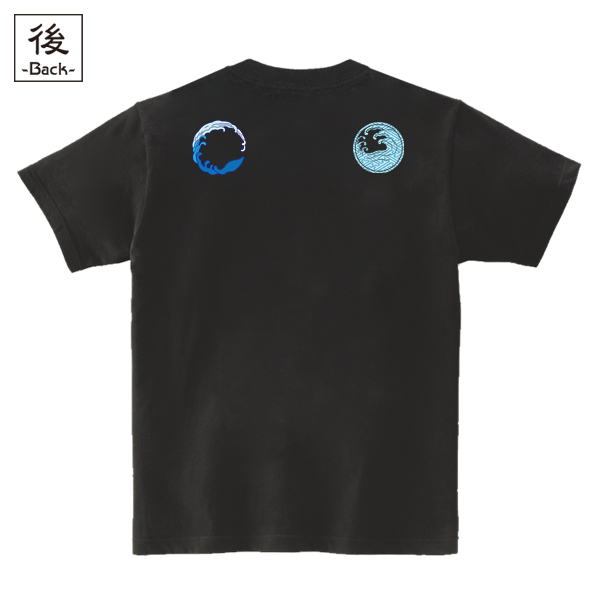 和柄,和柄服,むかしむかし,大きいサイズ,Tシャツ,メンズ,半袖,鳥獣戯画_波乗兎