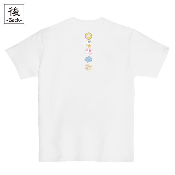 和柄,和柄服,むかしむかし,大きいサイズ,Tシャツ,レディース,半袖,花雪輪紋様