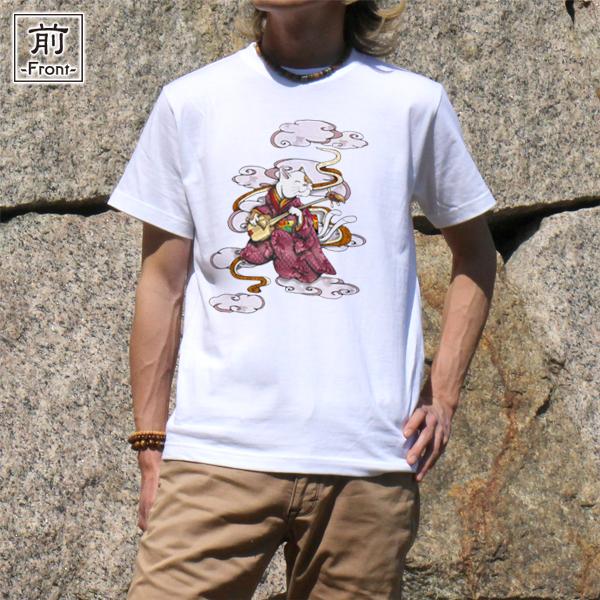 和柄,和柄服,むかしむかし,大きいサイズ,Tシャツ,キッズ,半袖,ねこまた