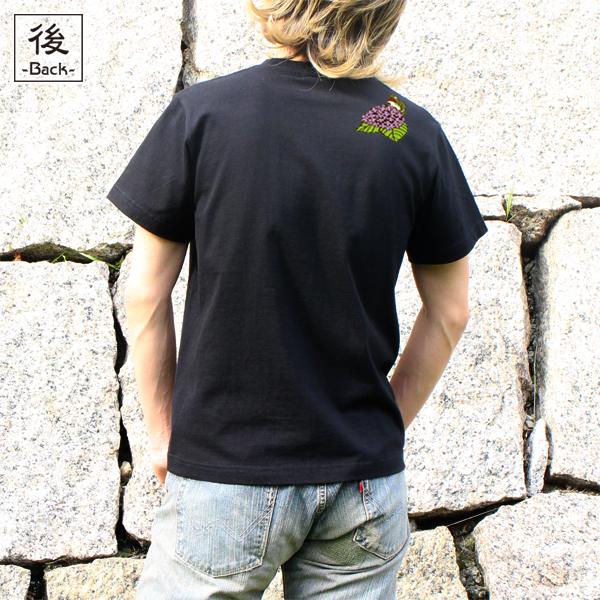 和柄,和柄服,むかしむかし,大きいサイズ,Tシャツ,キッズ,半袖,鳥獣戯画_紫陽花蛙