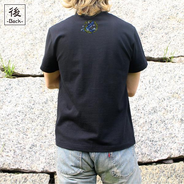 和柄,和柄服,むかしむかし,大きいサイズ,Tシャツ,メンズ,半袖,登竜門_龍巻鯉