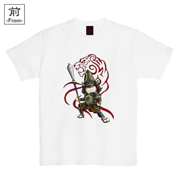 和柄,和柄服,むかしむかし,大きいサイズ,Tシャツ,キッズ,半袖,猫武将清正