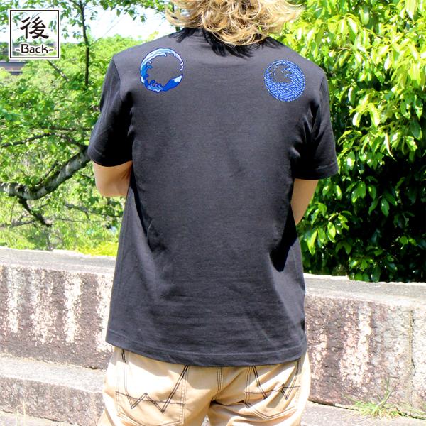 和柄,和柄服,むかしむかし,大きいサイズ,Tシャツ,レディース,半袖,鳥獣戯画_波乗蛙