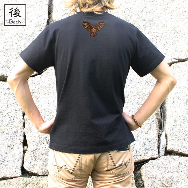 和柄,和柄服,むかしむかし,大きいサイズ,Tシャツ,レディース,半袖,闇夜梟