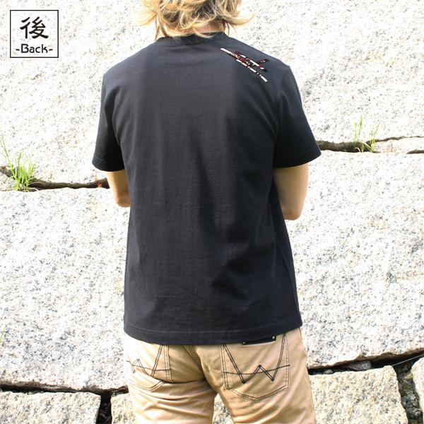 和柄,和柄服,むかしむかし,大きいサイズ,Tシャツ,メンズ,半袖,蝶花結組紐