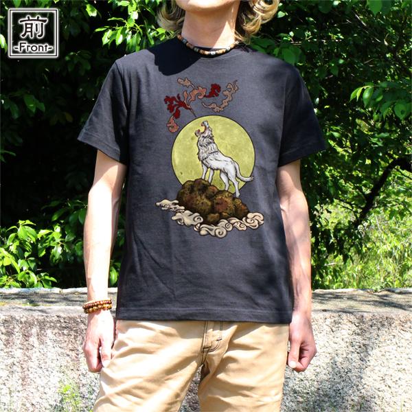 和柄,和柄服,むかしむかし,大きいサイズ,Tシャツ,キッズ,半袖,月夜狼