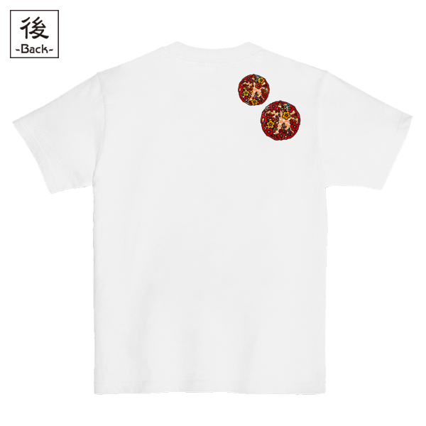 和柄,和柄服,むかしむかし,大きいサイズ,Tシャツ,キッズ,半袖,見返り美人