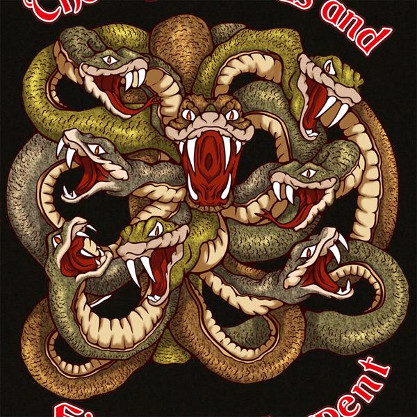 和柄,和柄服,むかしむかし,大きいサイズ,Tシャツ,メンズ,長袖,八岐大蛇