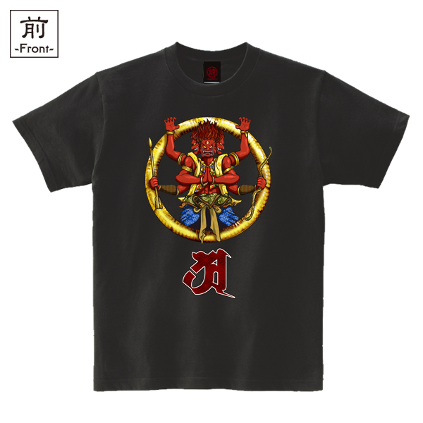 和柄,和柄服,むかしむかし,大きいサイズ,Tシャツ,メンズ,半袖,阿修羅