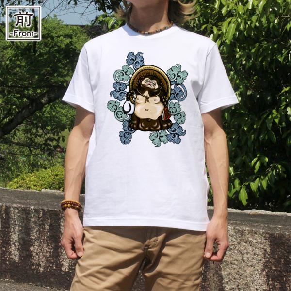 和柄,和柄服,むかしむかし,大きいサイズ,Tシャツ,キッズ,半袖,吉祥葵狸