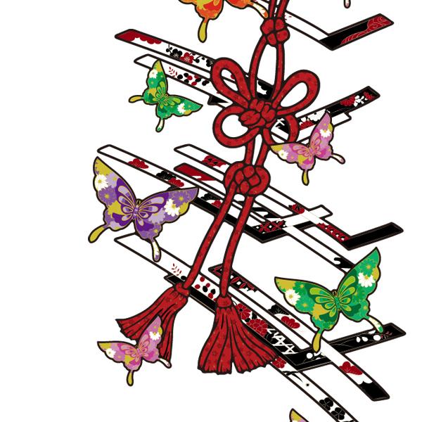 和柄,和柄服,むかしむかし,大きいサイズ,パーカー,プルパーカー,レディース,蝶花結組紐