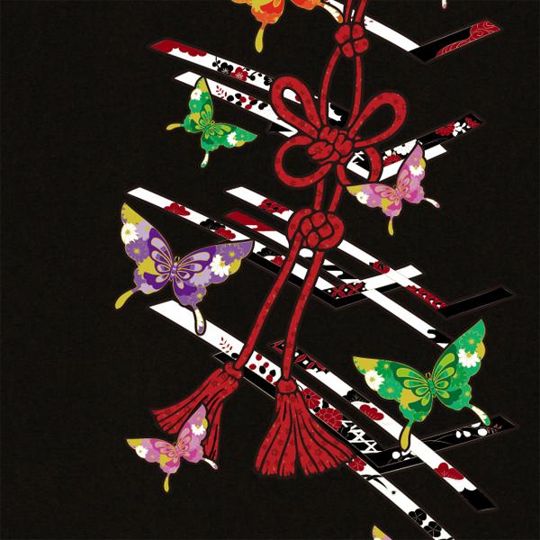 和柄,和柄服,むかしむかし,大きいサイズ,パーカー,ジップパーカー,メンズ,蝶花結組紐