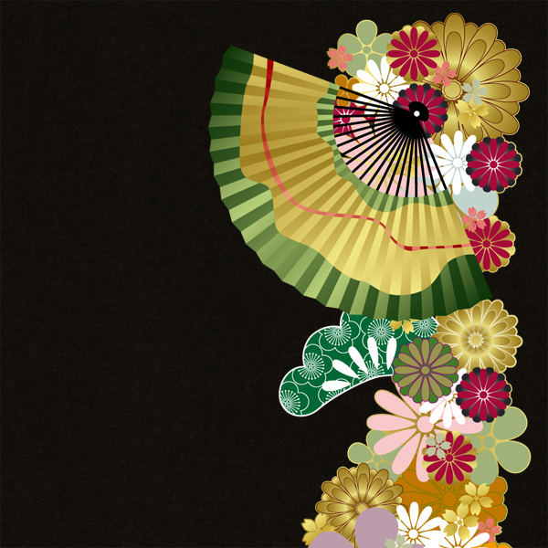 和柄,和柄服,むかしむかし,大きいサイズ,トレーナー,スウェット,メンズ,和花扇紋様