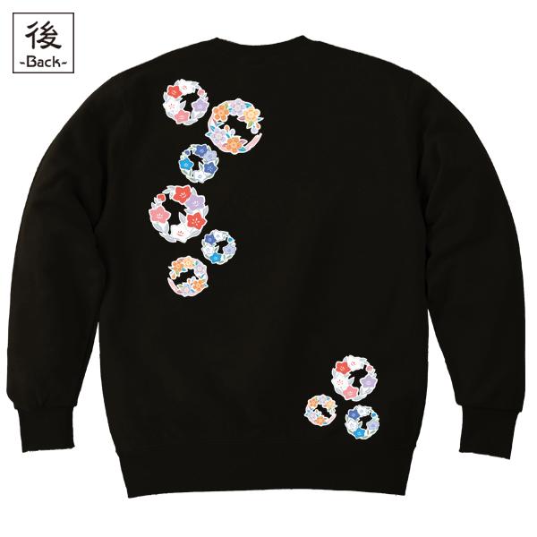 和柄,和柄服,むかしむかし,大きいサイズ,スウェット,トレーナー,メンズ,小花丸紋様