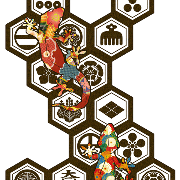 和柄,和柄服,むかしむかし,大きいサイズ,スウェット,トレーナー,キッズ,六角家紋守宮