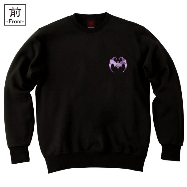 和柄,和柄服,むかしむかし,大きいサイズ,スウェット,トレーナー,キッズ,月夜蝙蝠
