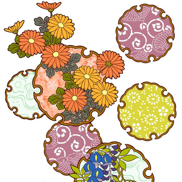 和柄,和柄服,むかしむかし,大きいサイズ,スウェット,トレーナー,メンズ,雪輪季節花紋